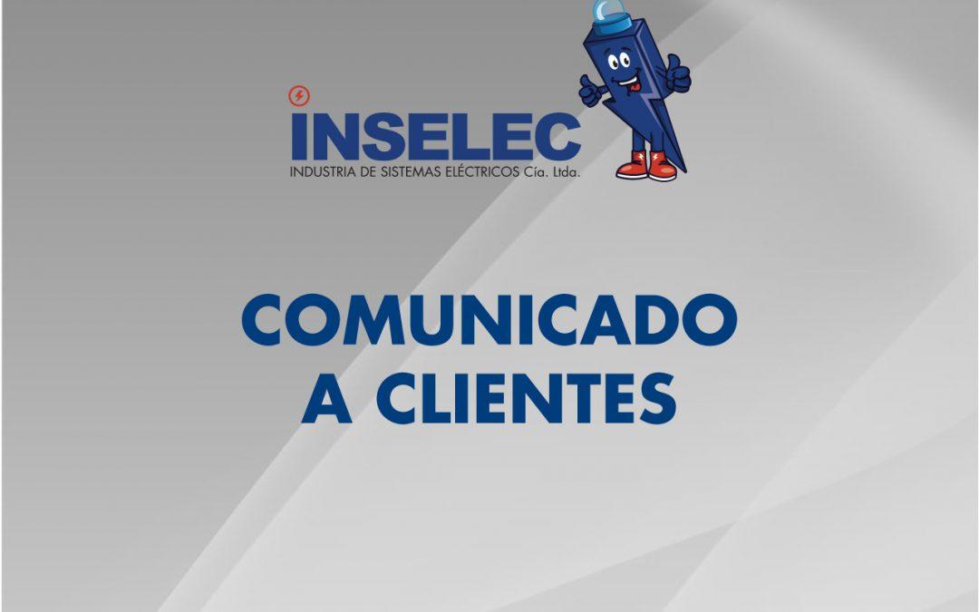 COMUNICADO A CLIENTES INSELEC
