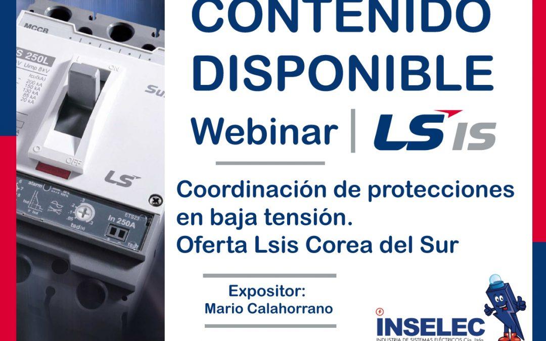 WEBINAR LS Coordinación de protecciones en baja tensión